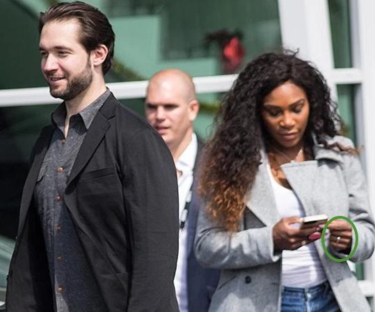 celebrity news pregnant serena williams fiance
