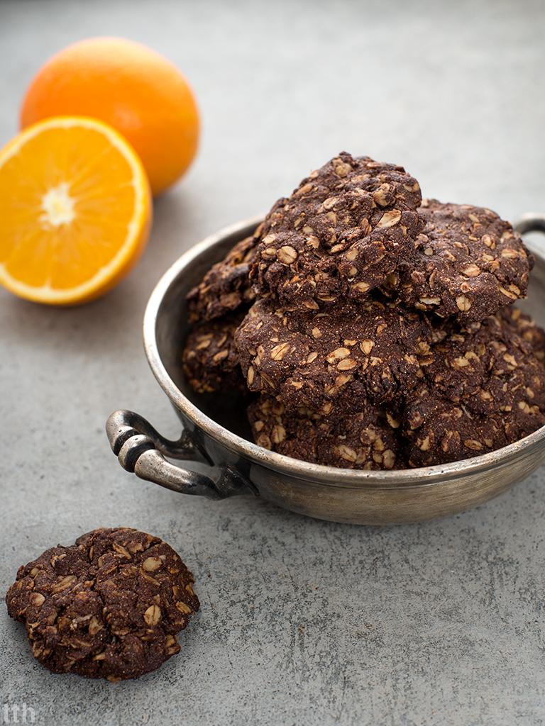 ciasteczka owsiane wegańskie bezglutenowe bez cukru blog wegański przepis czekolada