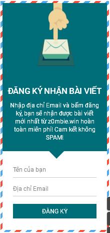 Khung đăng kí nhận bài qua Gmail đẹp cho Blogspot
