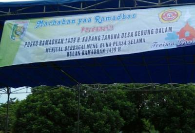 Karang Taruna Gedung Dalam Buka Posko Penjualan Ta'jil