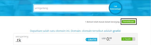 Melakukan Pemeriksaan Domain