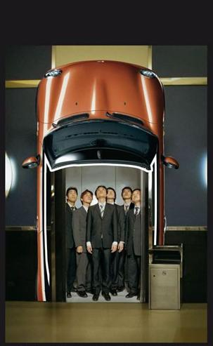 MINI Cabrio Elevator Advertisement