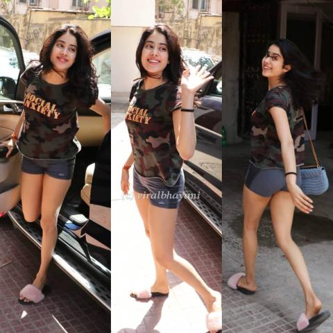 jhanvi kapoor in short