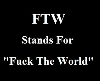 FTW Stands For Fuck The World