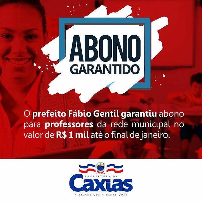 ABONO GARANTIDO - Prefeito Fábio Gentil garante valor de R$ 1 MIL até o final de Janeiro