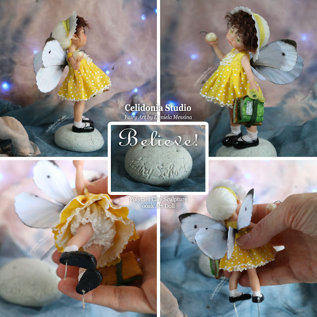 Fairy Polymer Clay ooak Art Doll