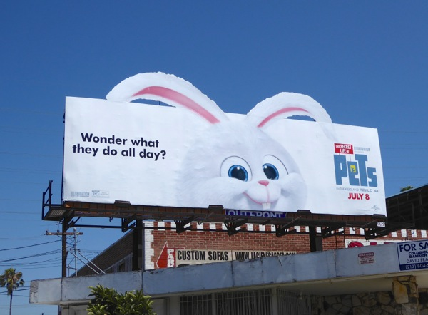 Secret Life of Pets bunny Snowball billboard