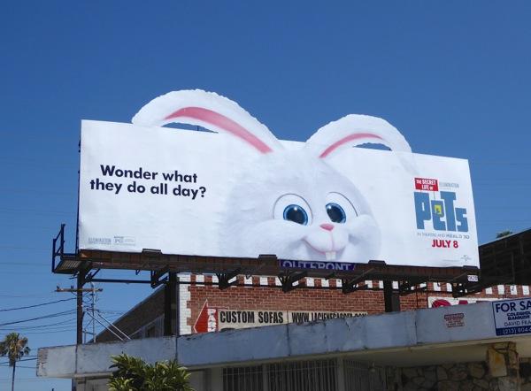 Secret Life of Pets bunny Snowball billboard