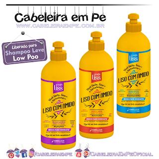 Linha Liso Com Amido - Magic Liss (Shampoo, Máscara e Leave in liberados para Low Poo)