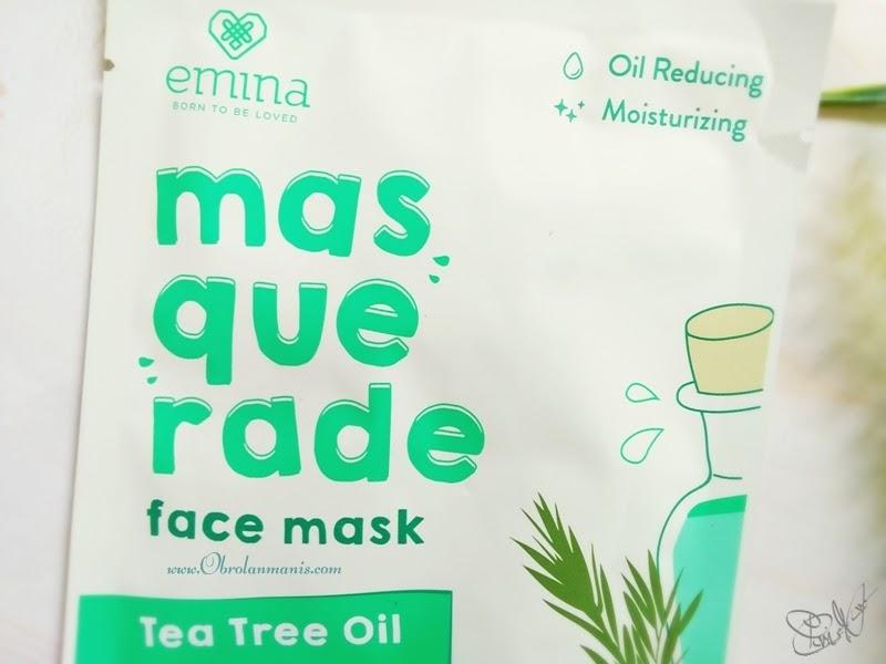 Review ~ Emina Masquerade Face Mask Tea Tree Oil | [Beauty