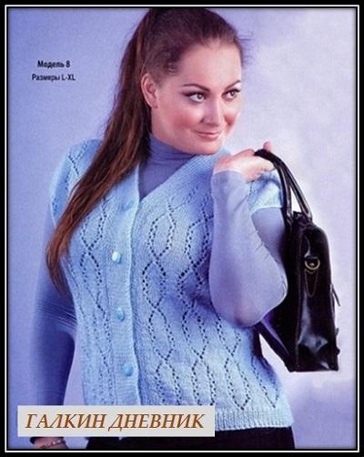 vyazanie jileta spicami shema i opisanie 針織 针织 編み物 knitting 2