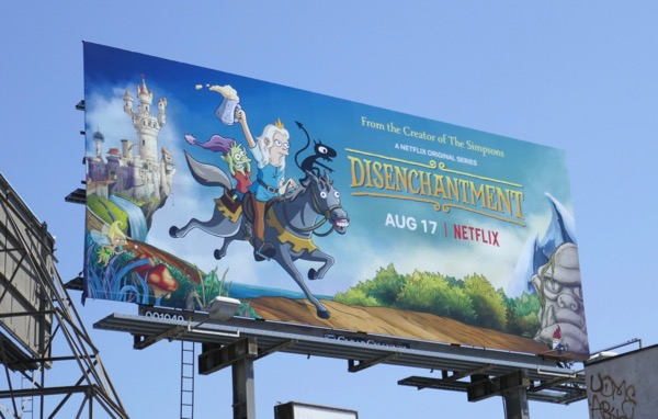 Disenchantment series launch billboard