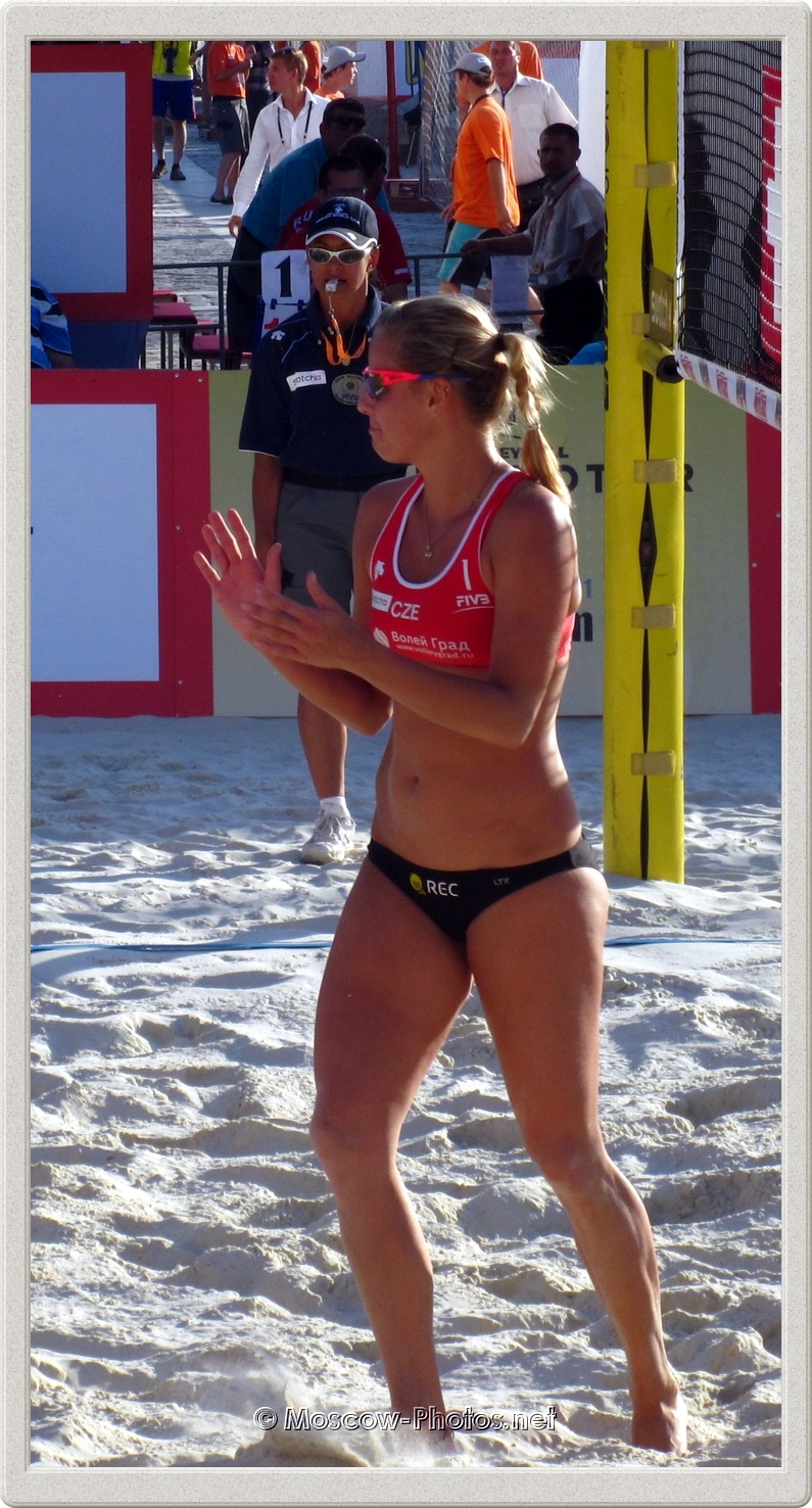 Beach Volleyball Player Marketa Slukova in Moscow