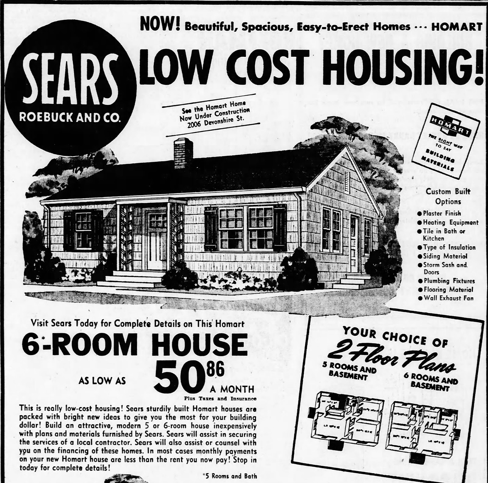 Sears homes of chicagoland for Ad house