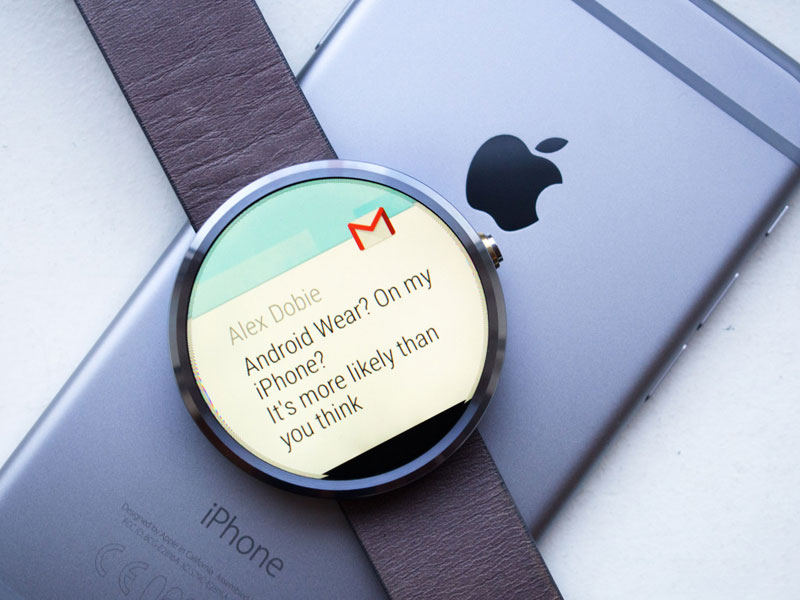 Google abandoned the idea to use the Android Wear on iPhone and iPad