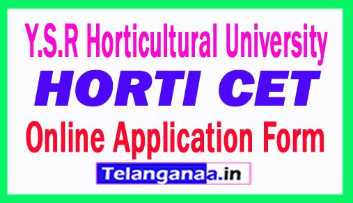 HORTICET 2019 Online Application Form Y.S.R Horticultural University