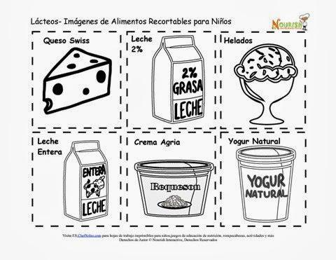 Maestra de Primaria: Productos lácteos para colorear. Leche ...