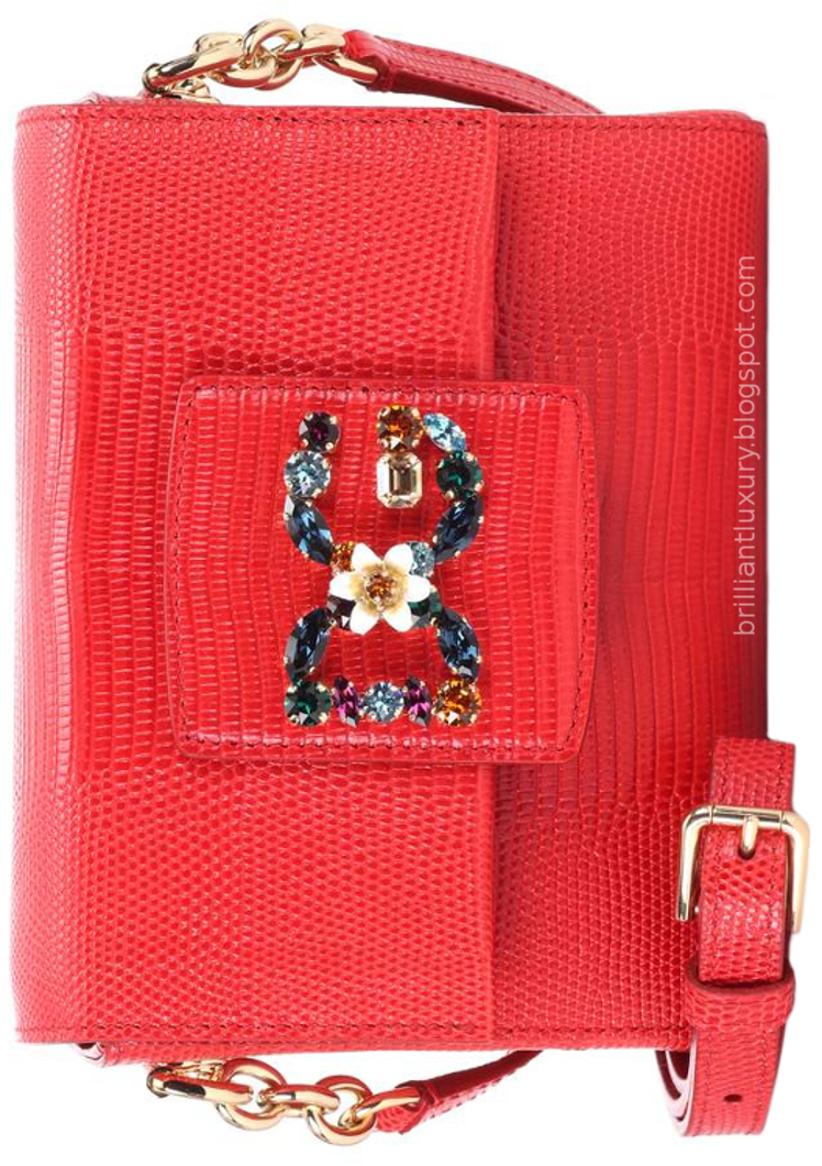 Brilliant Luxury ♦ Dolce & Gabbana Millennials mini red leather shoulder bag