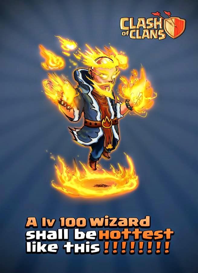 Wizard Level 100 | Clash of Clans Artwork  Clash