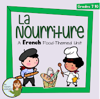 https://www.teacherspayteachers.com/Product/La-Nourriture-a-French-food-themed-unit-954601