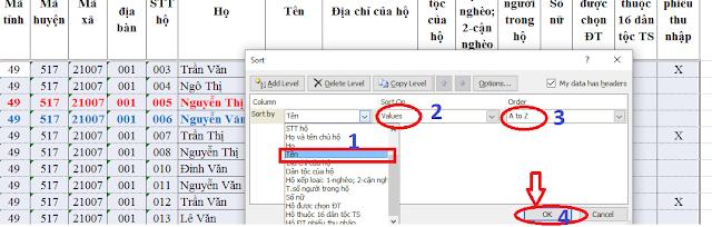 Hướng dẫn lọc dữ liệu và sắp xếp Excel nâng cao chi tiết dể hiểu