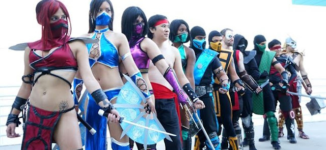 cosplay mortal combat sexy grupal