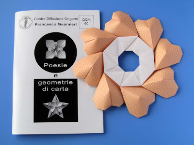 Origami, Booklet QQM 60 and Ghirlanda di cuori - Garland of hearts by Francesco Guarnieri