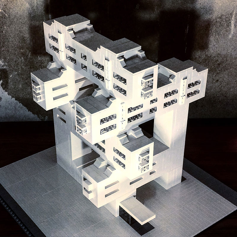 Lego Brutalist and Modernist Buildings by Arndt Schlaudraff