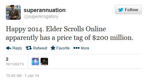 The Elder Scrolls Online Has Cost $200 Million