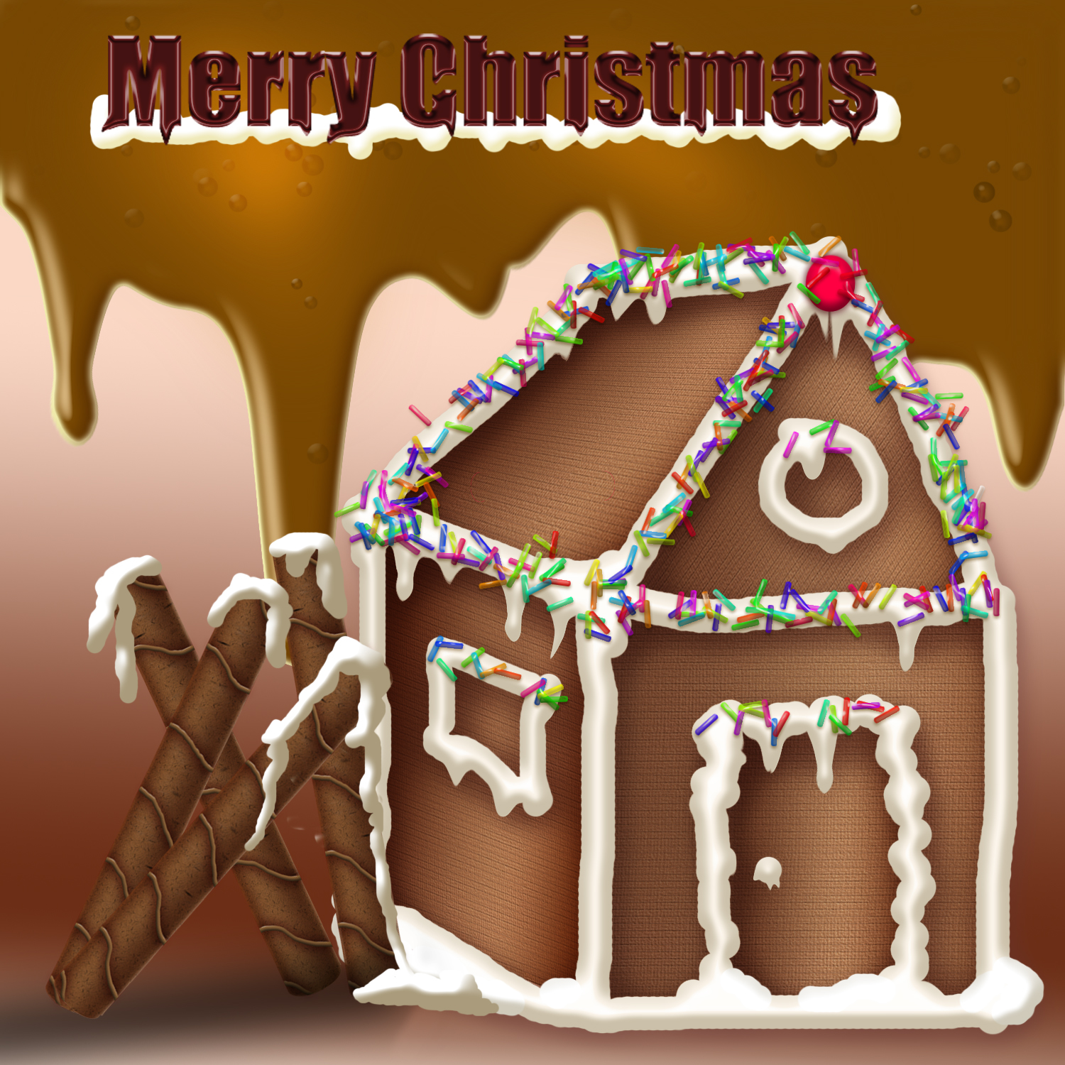 gingerbread house photoshop