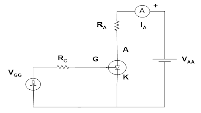 Rangkaian Percobaan kendali gate SCR dengan pulsa PWM