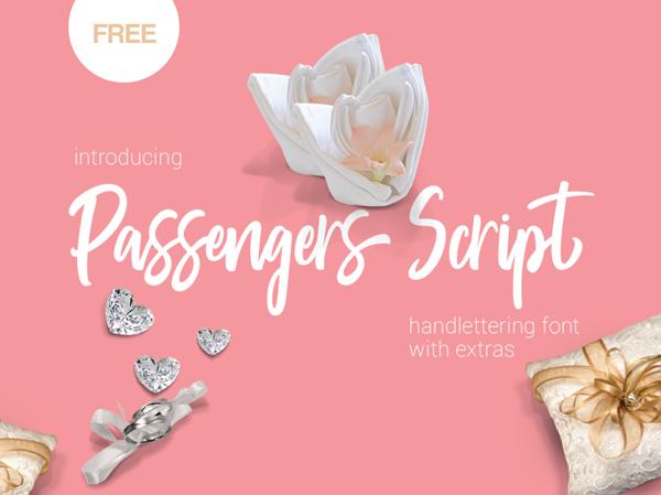 Download Font Terbaru 2018 - Passengers Script Free Font