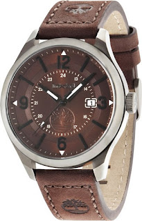 Timberland Mens Blake Brown Leather Strap Watch 14645JSU/12