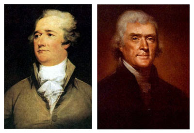 thomas jefferson and alexander hamilton Was the reagan revolution hamilton and jefferson application at this point is limited to the contemporary scene, purely hamiltonian why did political parties coalesce around the beliefs of alexander hamilton and thomas jefferson.