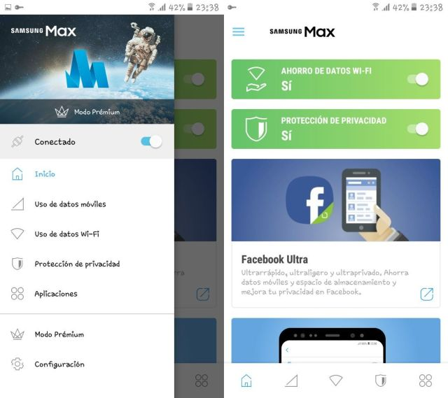 Samsung Max, una aplicación nueva para Android que ofrece modo de ahorro de datos móviles y modo de protección de privacidad - El Blog de HiiARA