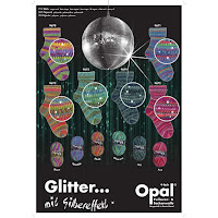Sockenwolle Opal Glitter 4-fädig mit Silbereffekt