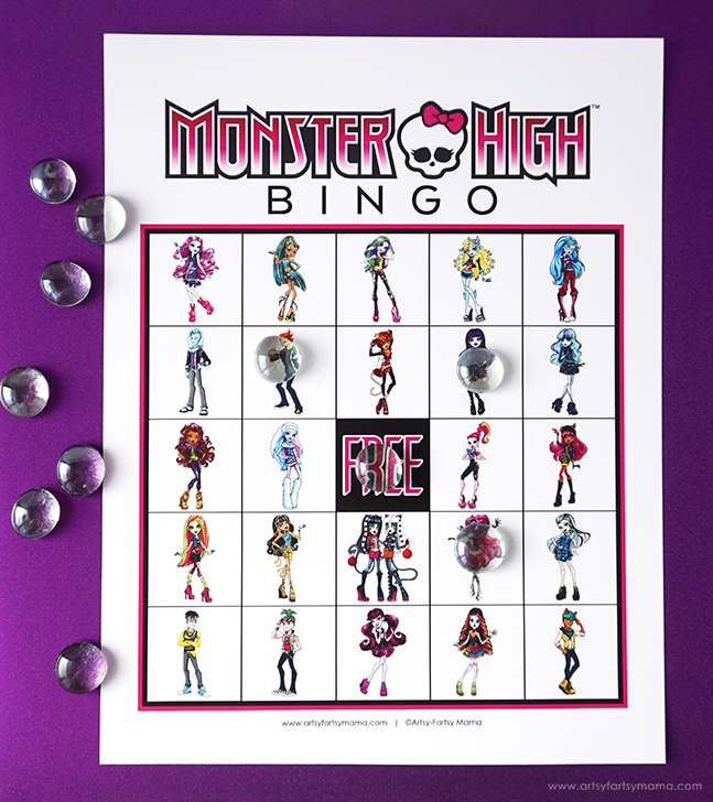 Download and print Free Printable Monster High Bingo to play at parties and just for fun!