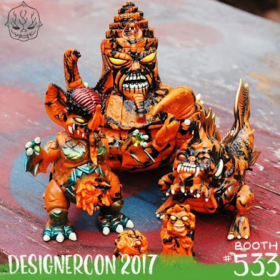 Designer Con 2017 Exclusive Pumpkinsplice Edition Vinyl Figures by Paul Kaiju