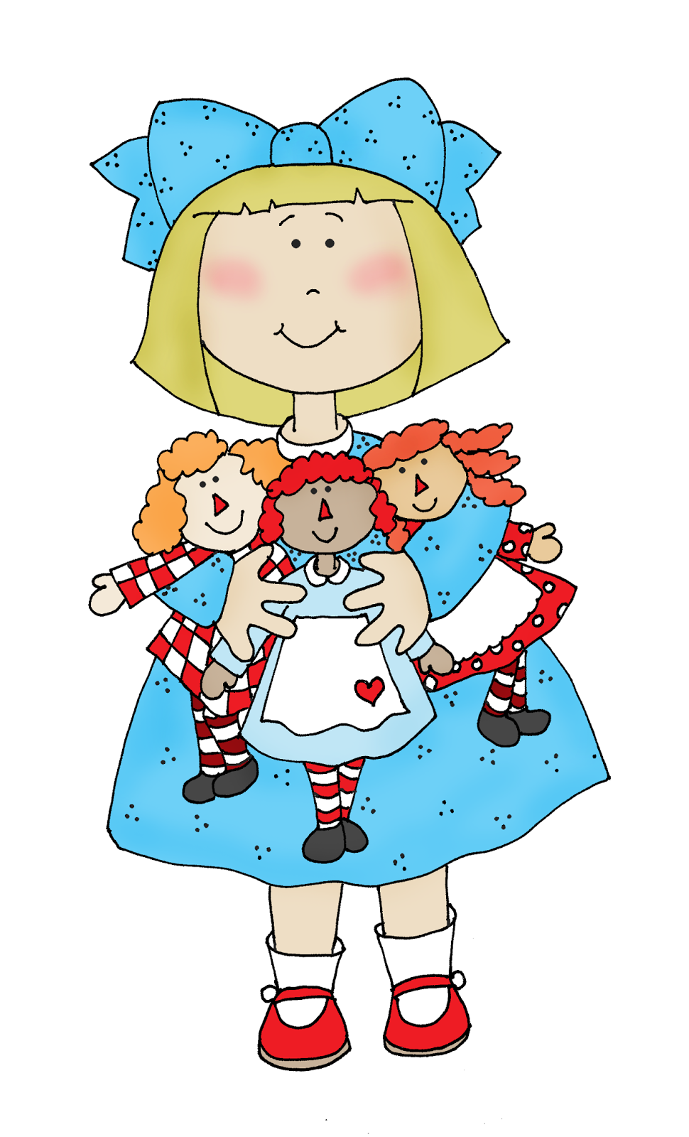 free dearie dolls digi stamps redrawn raggedy ann collector