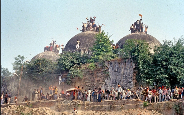 On 6th December 1992, agitating uncontrolled mob demolished the disputed structure and Bharatiya Janata Party (BJP) was credited as well as targeted for incident
