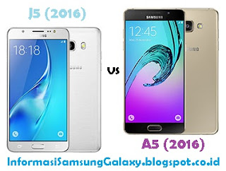 Perbandingan Samsung Galaxy J5 (2016) vs A5 (2016)