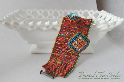 Geometry Handwoven Bracelet Peyote