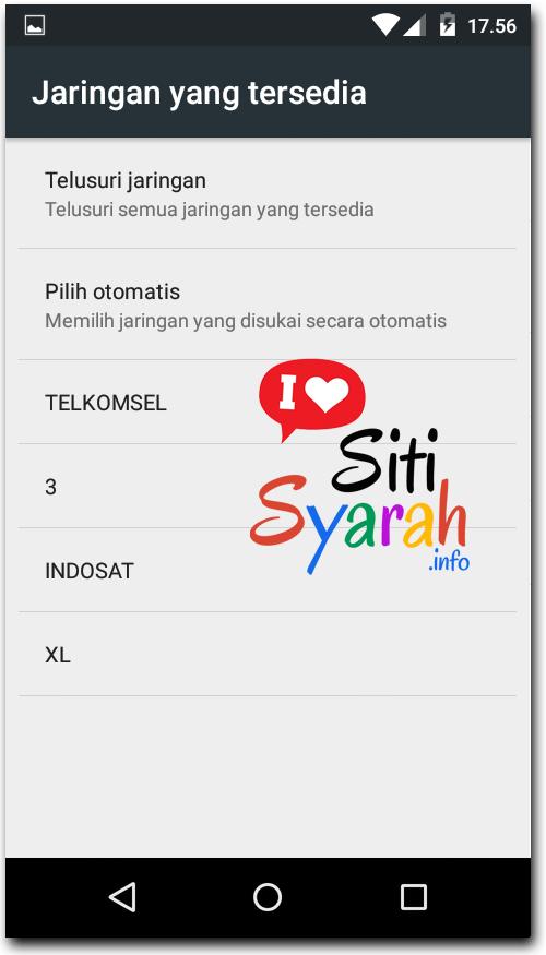 mengatasi jaringan data tidak tersedia di Android