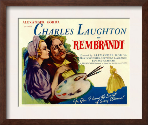 Film Poster Rembrandt 1936 Charles Laughton