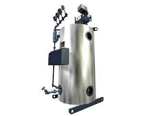 vertical tubeless boiler
