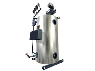 vertical tubeless boiler