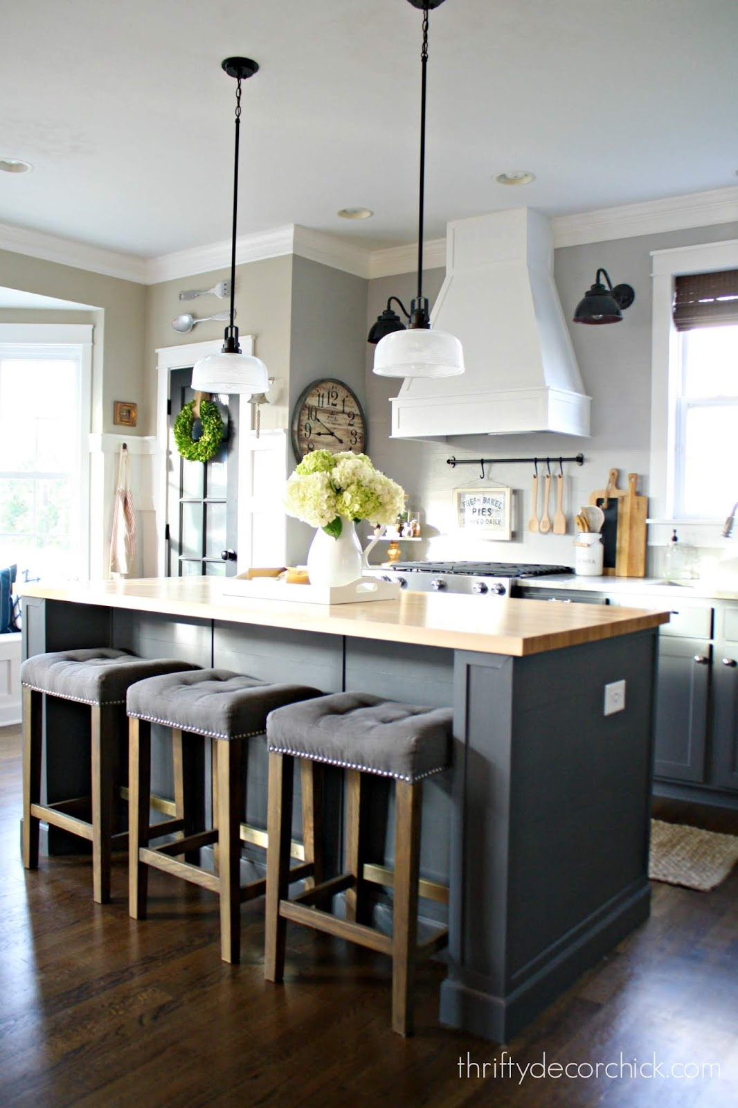 Extending kitchen island for microwave