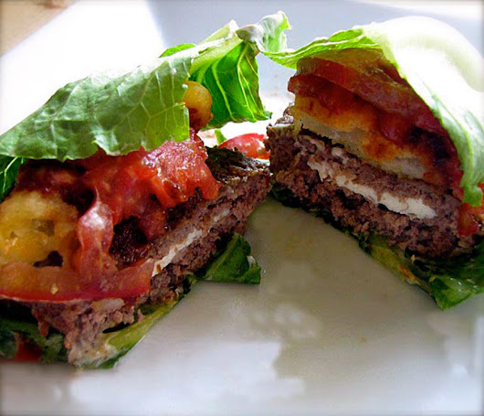 Game Day: Gourmet Mozzarella Stuffed Lettuce Burgers