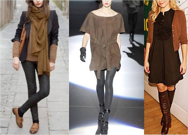 combinar negro y marrón