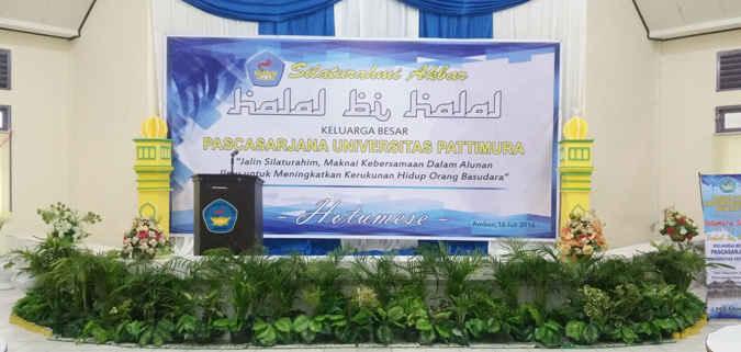 Pasca Sarjana Unpatti Gelar Halal Bi Halal Tribun Maluku Berita